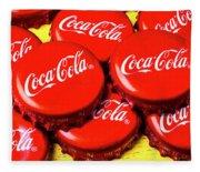Coca Cola Caps Fleece Blanket