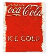Coca-cola Cooler Fleece Blanket