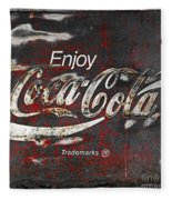 Coca Cola Grunge Sign Fleece Blanket