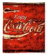 Coca Cola Square Soft Grunge Fleece Blanket
