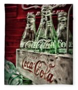 Coca Cola Vintage 1950s Fleece Blanket