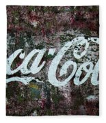 Coca Cola Wall Fleece Blanket