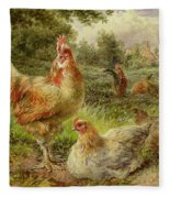 Cochin China Fowls Fleece Blanket
