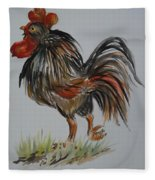 Cock-a-doodle-do Fleece Blanket