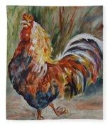 Cock Of The Walk Fleece Blanket