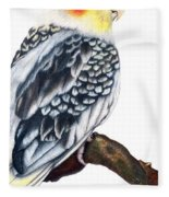 Cockatiel 2 Fleece Blanket