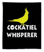 Cockatiel Whisperer Fleece Blanket