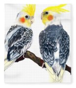 Cockatiels Fleece Blanket