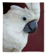 Cockatoo Portrait Fleece Blanket