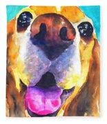 Cocker Spaniel Dog Smile Fleece Blanket