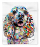 Cocker Spaniel Head Fleece Blanket