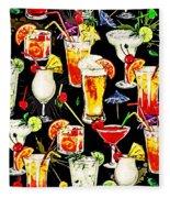 Cocktail Hour In The Tropics Fleece Blanket