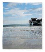 Cocoa Beach Florida Fleece Blanket