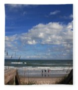 Cocoa Beach Florida Fleece Blanket