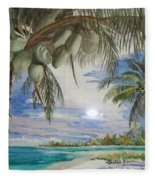 Coconut Beach Fleece Blanket
