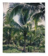 Coconut Farm Fleece Blanket