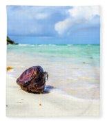 Coconut On The Beach Fleece Blanket