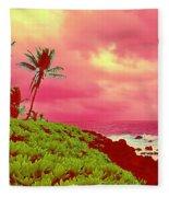 Coconut Palm Makai For Pele Fleece Blanket