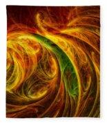 Cocoon Of Glowing Spirits Abstract Fleece Blanket