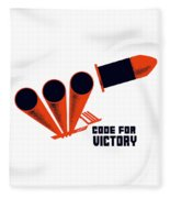 Code For Victory - Ww2 Fleece Blanket
