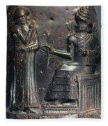 Code Of Hammurabi (detail) Fleece Blanket