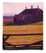Codori Barn Gettysburg Fleece Blanket