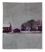 Codori Farm At Gettysburg In The Snow Fleece Blanket