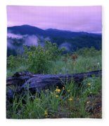 Coeur D'alene Mountains Fleece Blanket