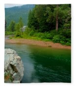 Coeur D'alene River Fleece Blanket