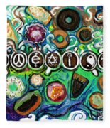 Coexisting With Coffee And Donuts Fleece Blanket