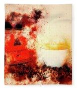 Coffe Grinder Fleece Blanket
