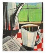 Coffee And Morning News Fleece Blanket