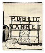 Coffee At The Market II Fleece Blanket