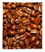 Coffee Beans Fleece Blanket
