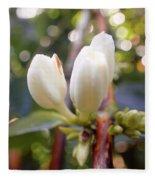 Coffee Blossom 2 Fleece Blanket