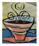 Coffee Cup Four Fleece Blanket