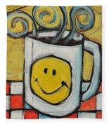 Coffee Cup One Fleece Blanket