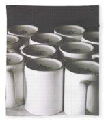 Coffee Cups- By Linda Woods Fleece Blanket