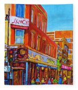 Coffee Depot Cafe And Terrace Fleece Blanket