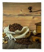 Coffee Grinder Fleece Blanket