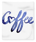 Coffee Love Typography Fleece Blanket