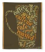 Coffee Lovers Word Cloud Fleece Blanket