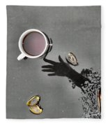 Coffee On Black Top Pond No. 5 Fleece Blanket