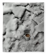 Coffee On The Rocks Fleece Blanket