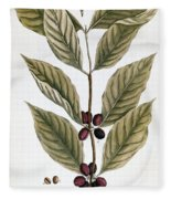 Coffee Plant, 1735 Fleece Blanket