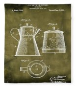 Coffee Pot Patent 1916 Grunge Fleece Blanket