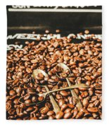 Coffee Service Scene Fleece Blanket