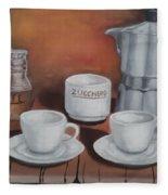 Coffee Set Fleece Blanket