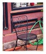 Jonesborough Tennessee - Coffee Shop Fleece Blanket