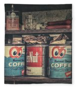 Coffee Tins All In A Row Fleece Blanket